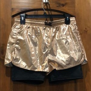 Ideaology Girls XL rose gold shorts